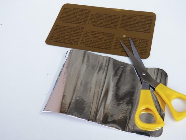 Il riciclo creativo uno scrigno molto speciale l for Carta specchio adesiva